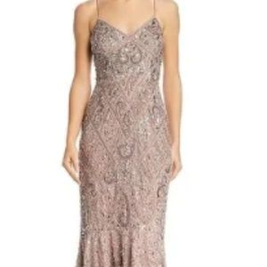 Aidan Mattox Womens Evening Dress Embellished Cock
